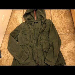 New Look brand, Olive green hooded jacket.